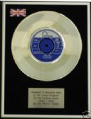 "THE PRETTY THINGS - 7"" Platinum Disc - HONEY I NEED"